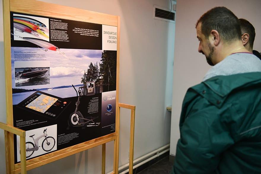 Ambassador Ikonen Opens Exhibition Innovative Finnish Design