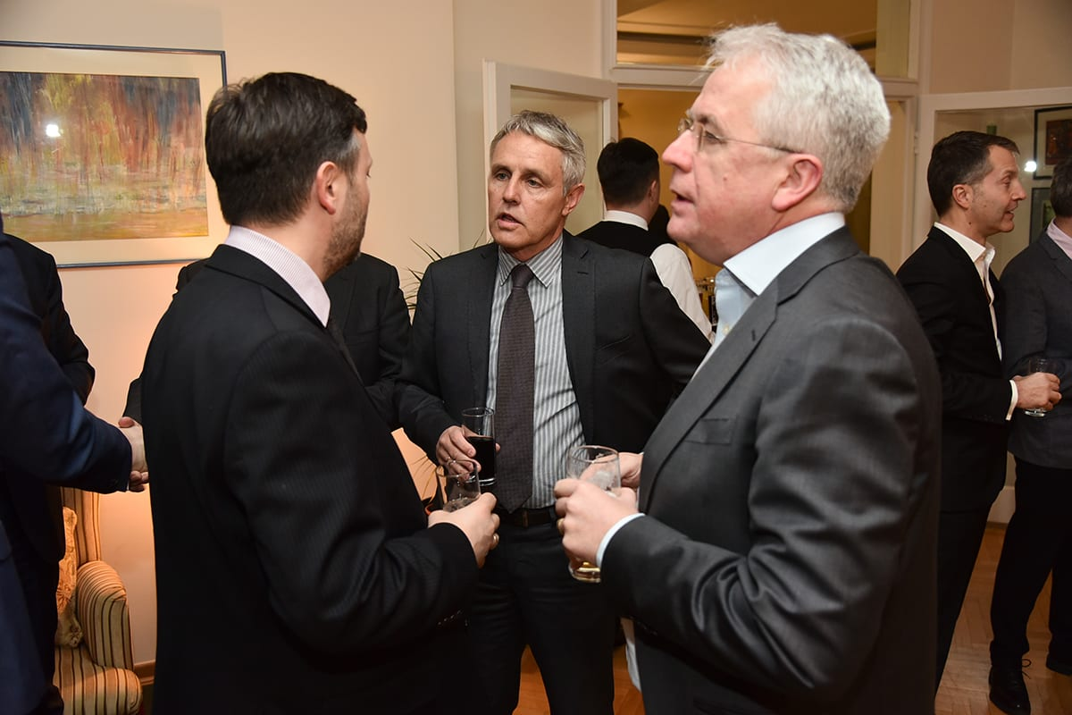 Ambassador Keefe Hosts British Entrepreneurs Active in Serbia