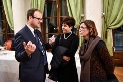 Ambassador Mondoloni presents the Ordre des Arts et des Lettres