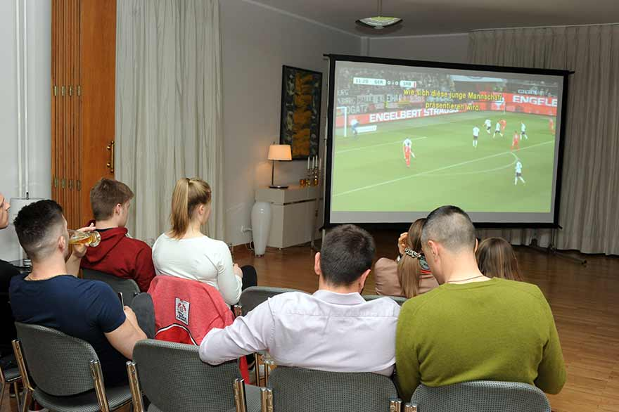 Ambassador-Schieb-hosted-Germany-Serbia-football-match-viewing-1