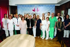 Crown Princess Katherine Presents Donations To Narodni Front Hospital