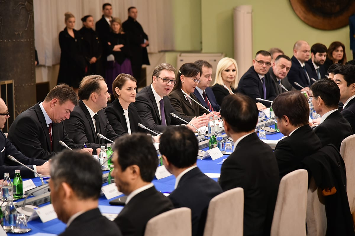 Japanese PM Visits Belgrade