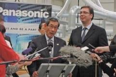 Serbian PM Vucic visits to Panasonic factory in Svilajnac