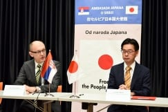 Signing Ceremony at the Embassy of Japan