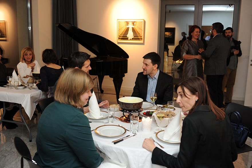 Swiss Cheese Fondue Soiree at the Ambassador's Residence