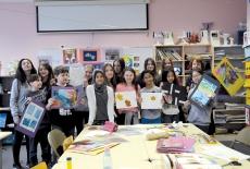 MIDDLE SCHOOL ART STUDENTS, 2015