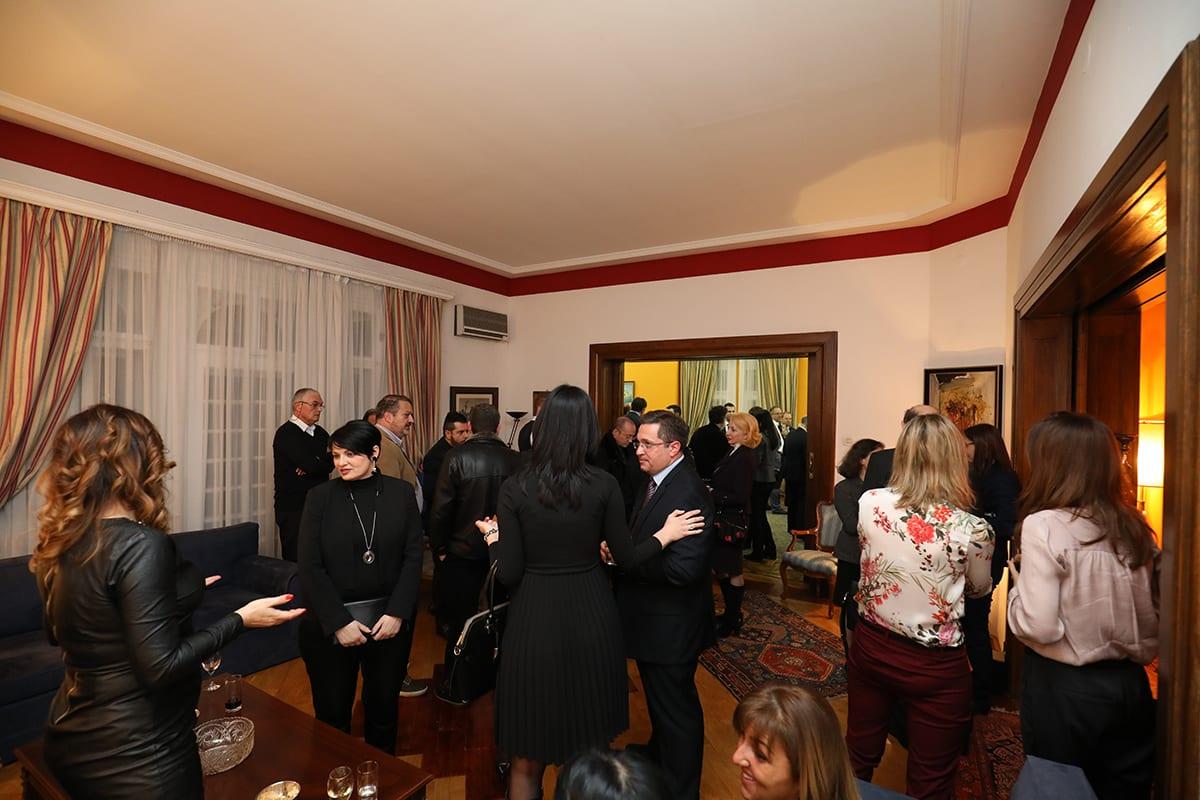 Vasilopita Cutting With The Greek Embassy And The HBA