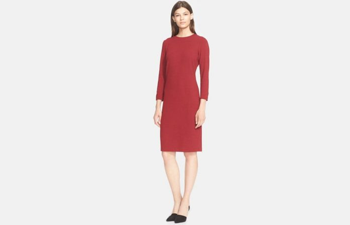 Vince Stretch Knit Sheath Dress