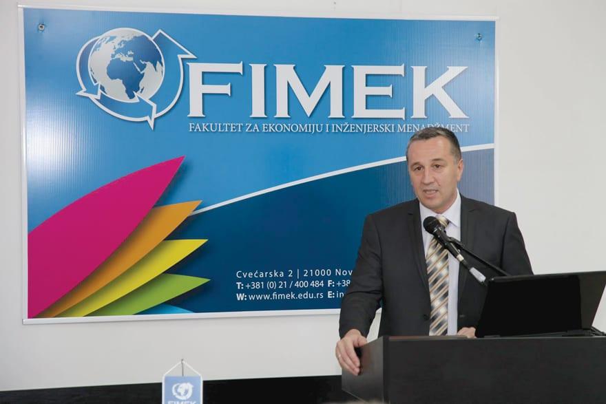 Professor Dragan Soleša, Dean of the Novi Sad Faculty of Economics