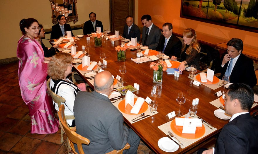 Minister Ivica Dačić Attended A Working Lunch With Asia-Pacific Region Homs