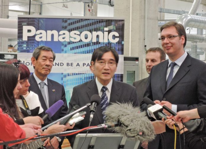 Serbian PM Vucic visits Panasonic factory in Svilajnac