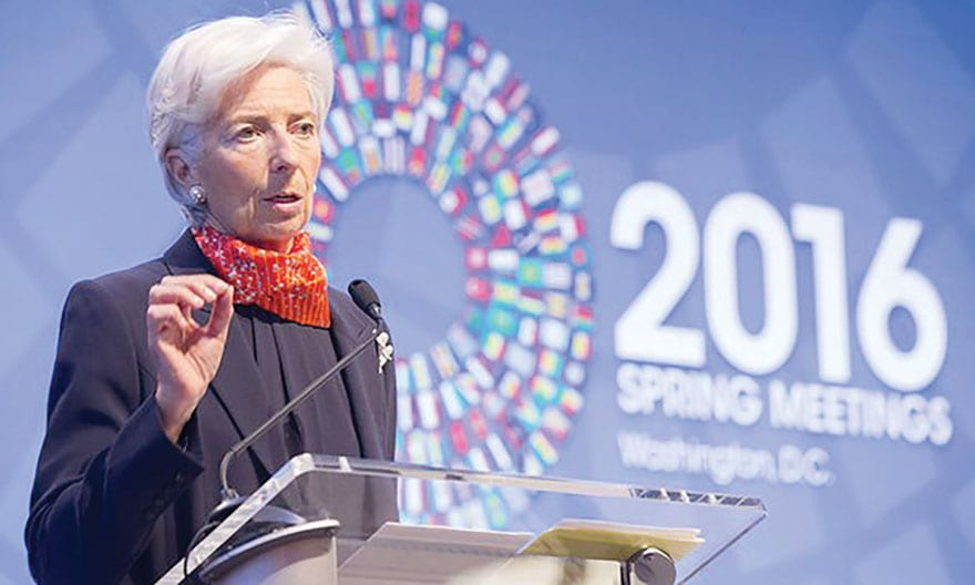 IMF Cuts Global Growth Outlook Again Christine Lagarde, Director of the International Monetary Fund