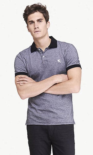 Fitted Pique Polo