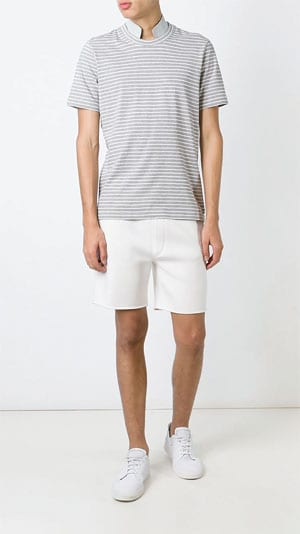 Brunello Cucinelli Collar Striped T-shirt