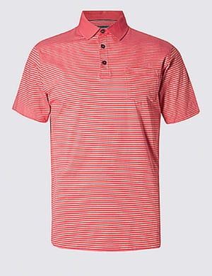 Pure Cotton Slim Fit Polo Shirt
