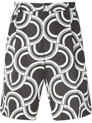 Dolce & Gabbana Optical Print Shorts