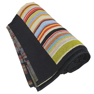 Multi Stripe Trim Beach Towel