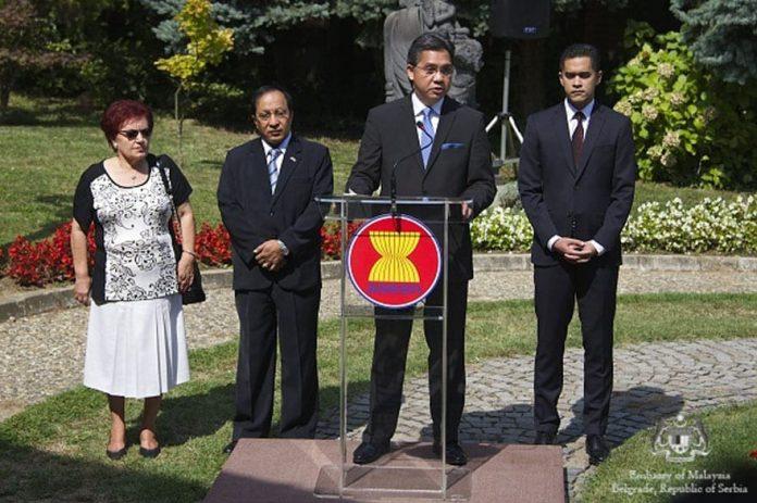 ASEAN Flag Raised in Belgrade
