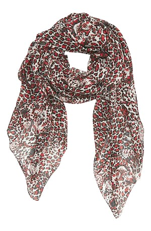 Saint Laurent Jaguar Print Wool Scarf