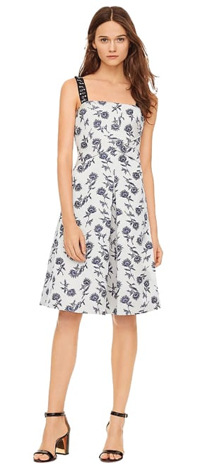 Sateen Jacquard Dress