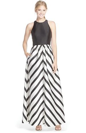 Black Tie Black & White Colour Palette Dress