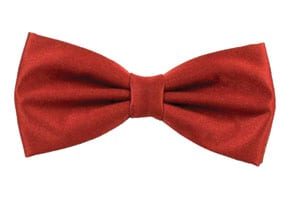 Plain Wine Red Bow Tie