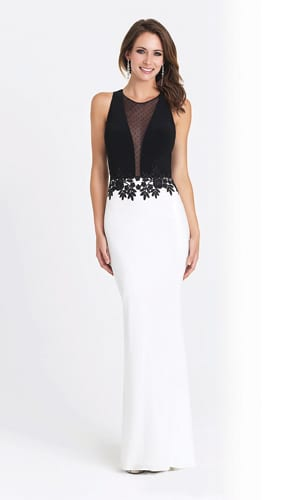 V-Neck Two Tone Dress