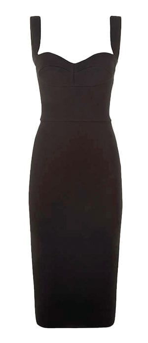 Victoria Beckham Cami Cut-Out Fitted Dress