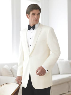 White Wool Dinner Jacket