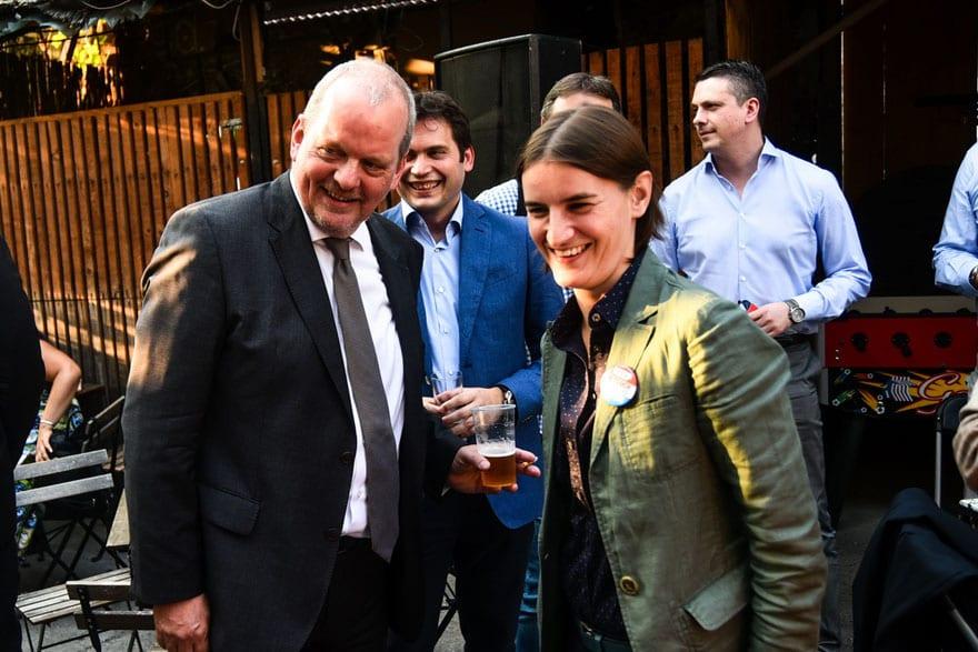 Henk van den Dool Ana Brnabić With Representatives Of Dutch Companies