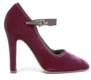 Etro Velvet Mary Jane Pumps