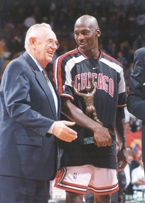 With MICHAEL JORDAN, 1997