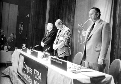 The moment when he became secretary general of FIBA, 1976