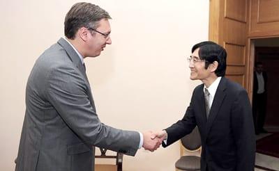 Prime Minister ALEKSANDAR VU?I? and H.E. JUICHI TAKAHARA
