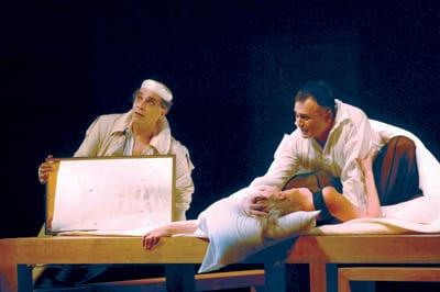 "With BRANISLAV LEČIĆ in the play ""Hamlet"""