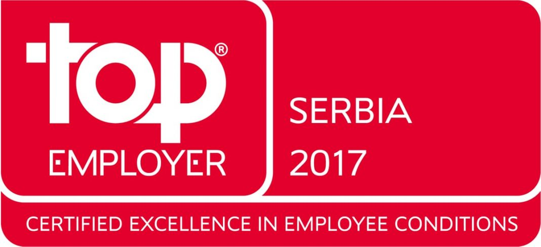 JTI Serbia One of The Top Employers Europe 2017