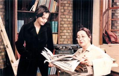 With daughter KATARINA ŽUTI? in the play Selected Stories (Sabrane pri?e)