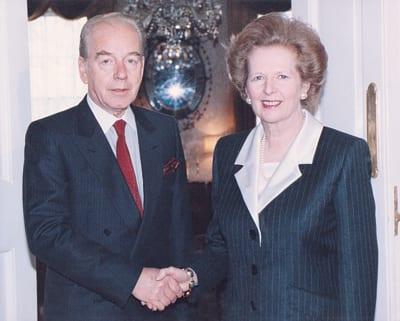 BUDIMIR LONČAR and Former British Prime Minister MARGARET THATCHER