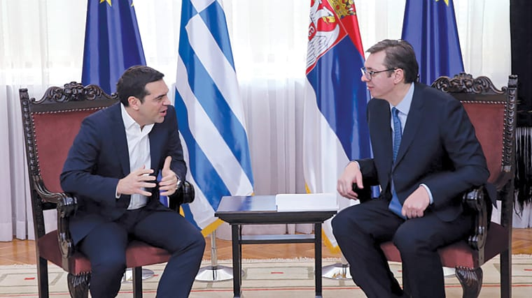 Grčki premijer ALEKSIS CIPRAS i ALEKSANDAR VUČIĆ, premijer Srbije
