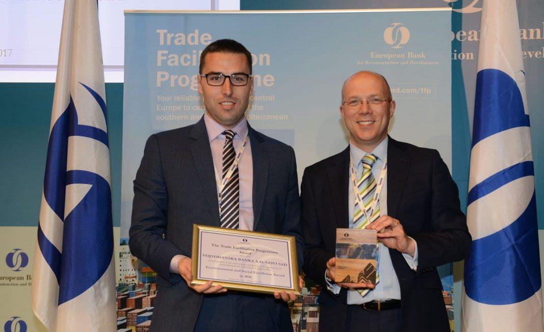 EBRD Awards Vojvođanska Banka