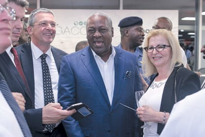 VLADIMIR MILOVANOVIĆ and Ghanaian President JOHN DRAMANI MAHAMA, pictured at the official opening of the cargo centre at Kotoka International Airport in Accra
