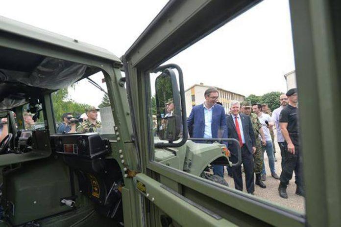 U.S. Government Donates Military Vehicles To Pančevo