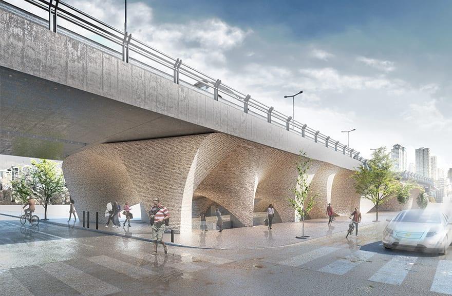 Mirdamad Bridge in Tehran