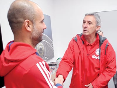 With former Coach of Bayern Munich PEP GUARDIOLA