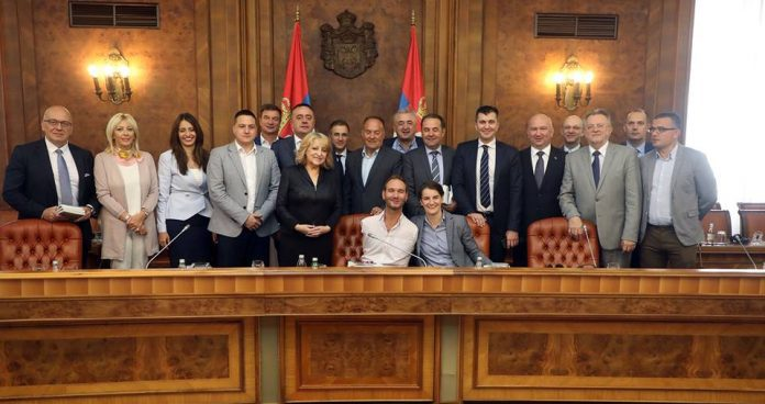 Nick Vujicic With Serbian Government Members