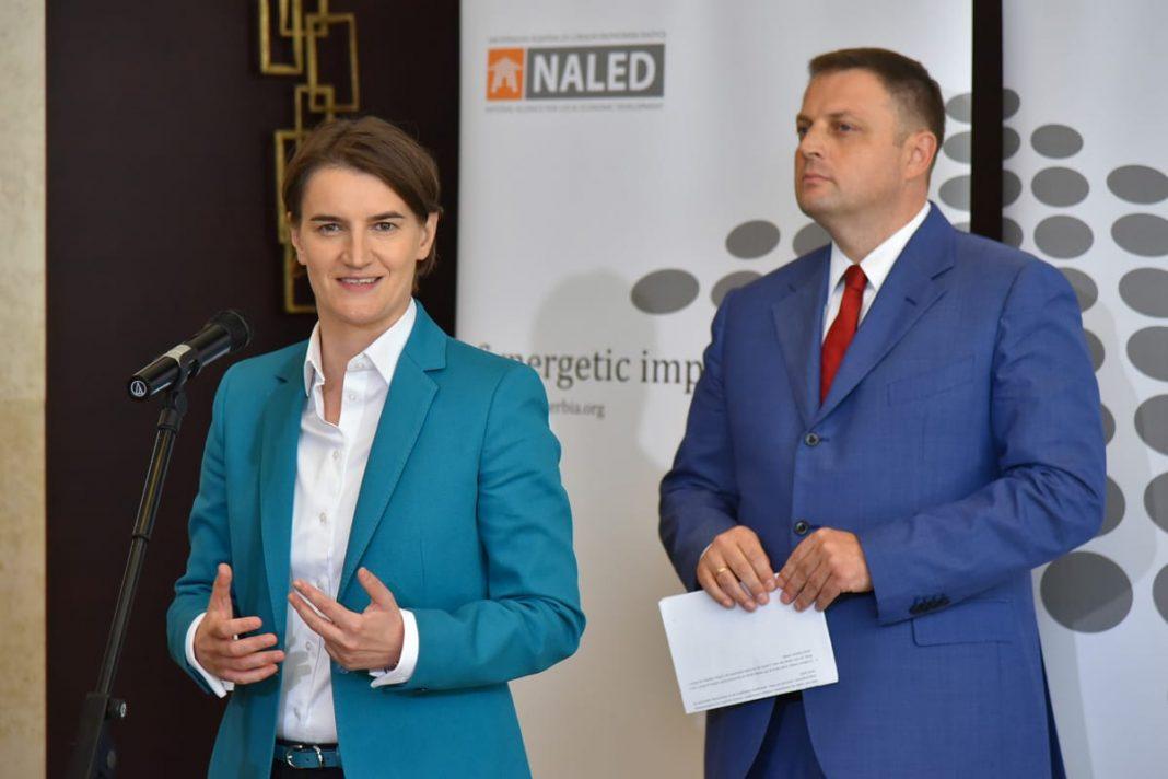 NALED Working Lunch With PM Brnabić