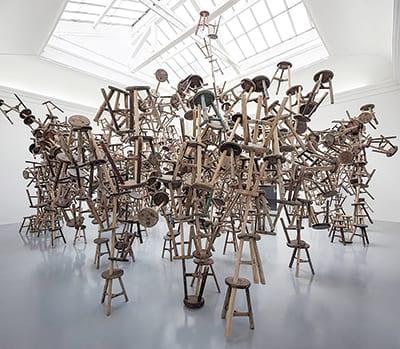 AI WEIWEI'S 886 wooden stools