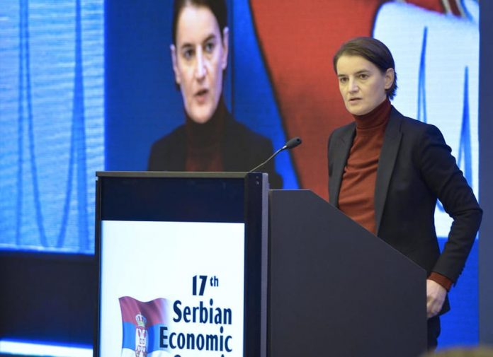 Ana Brnabic 17th Economic Summit