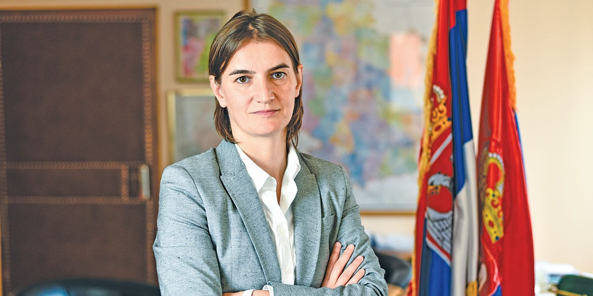 Ana Brnabić Prime Minister Of The Republic Of Serbia