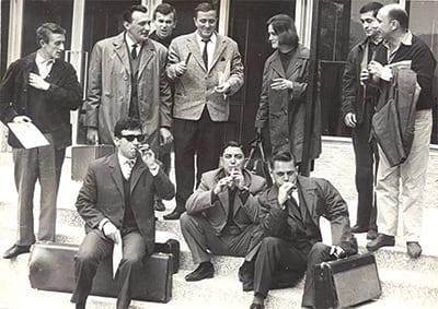 BELGRADE JAZZERS, AMONG THEM DUŠAN VIDAK, SENKA VELENTANLIĆ AND VOJISLAV SIMIĆ (1963)